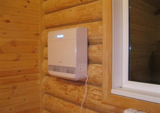 Бризер в деревянном доме